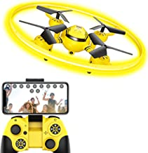 HASAKEE Q8 FPV Drone with Camera for Kids Adults,RC Drones for Kids,Quadcopter with Yellow...