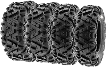 SunF ALL TERRAIN ATV UTV 6 Ply Race Tires 27x9-14 & 27x11-14 Tubeless A033 POWER I, [Set of 4]