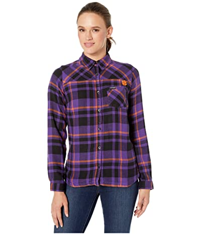 Columbia College Clemson Tigers Flare Guntm Shirt (Vivid Purple) Women