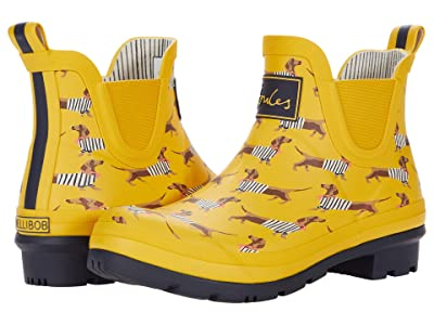Joules Wellibob Chelsea Boot (Yellow Sausage Dog 1) Women