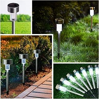 SUNNEST Solar Lights Outdoor, Solar Pathway Lights, 12 Pack Stainless Steel Solar Garden Lights for Garden, Driveway, Yard and Pathway