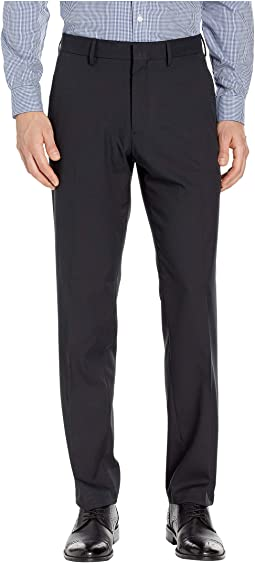 Solid Stretch Gab Modern Fit Flat Front Dress Pants