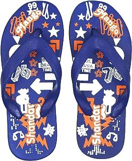 POLITA Boys & Girls Slip On Slipper Flip Flop (Blue)
