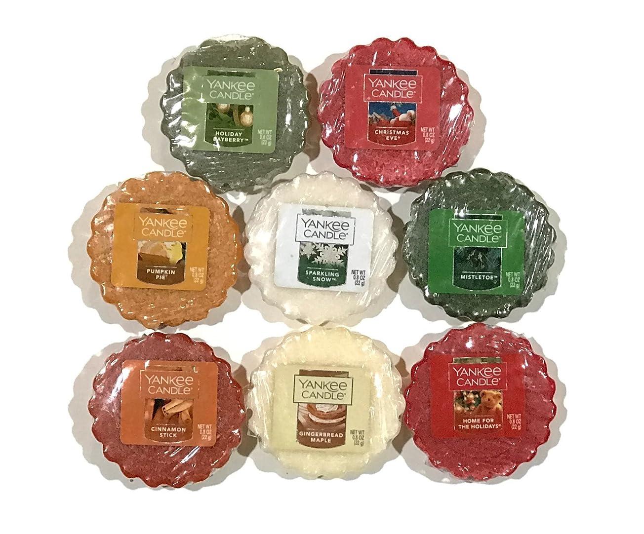 構成ドロー助けになるYankee Candle TartsワックスMeltsサンプラーパック、冬/Holiday Scents (8パック)