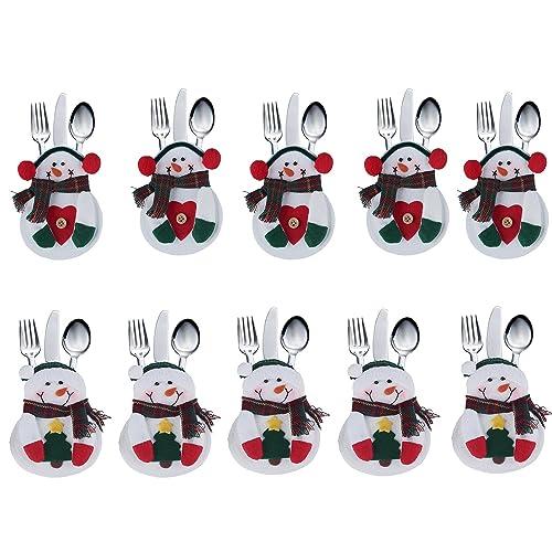 Lucklystar® Bolsillos para Cubiertos Navidad Bolsa de Cuchara el Diseño de Navidad Juego de Cena