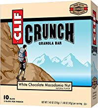 CLIF CRUNCH- Granola Bar – White Chocolate Macadamia – 1 48 Ounce 5 Two-Bar Snack Pouches Estimated Price : £ 25,30