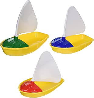 small plastic toy sailboats