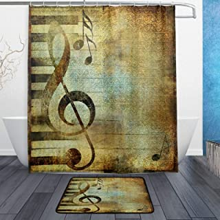 Retro Country Music Note with Piano Keyboard Musical Waterpr