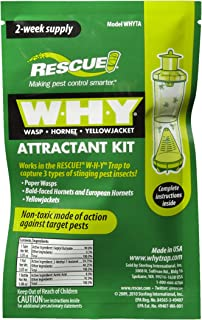 Rescue WHYTA Reusable W.H.Y Trap for Wasps, Hornets & Yellowjackets, 2 Weeks Non-Toxic Attractant Kit, Double-Chambered Design Durable for Multiple Seasons Outdoor (Pack of 16)