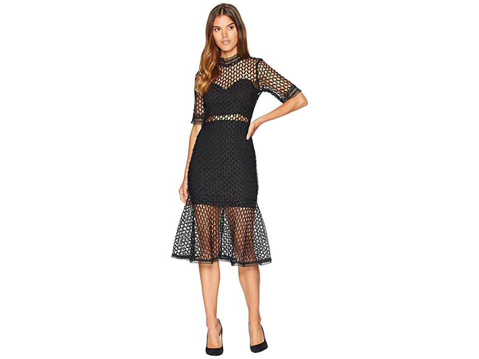 Bardot Fiona Mesh Dress (Black) Women