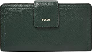Fossil Women's Wallet, 6.75''L x 0.75''W x 3.5''H, Green