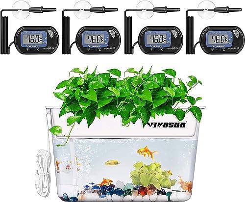 discount VIVOSUN wholesale 4-Pack LCD Digital Aquarium new arrival Thermometer, Aquaponic Fish Tank Fish and Plant outlet online sale