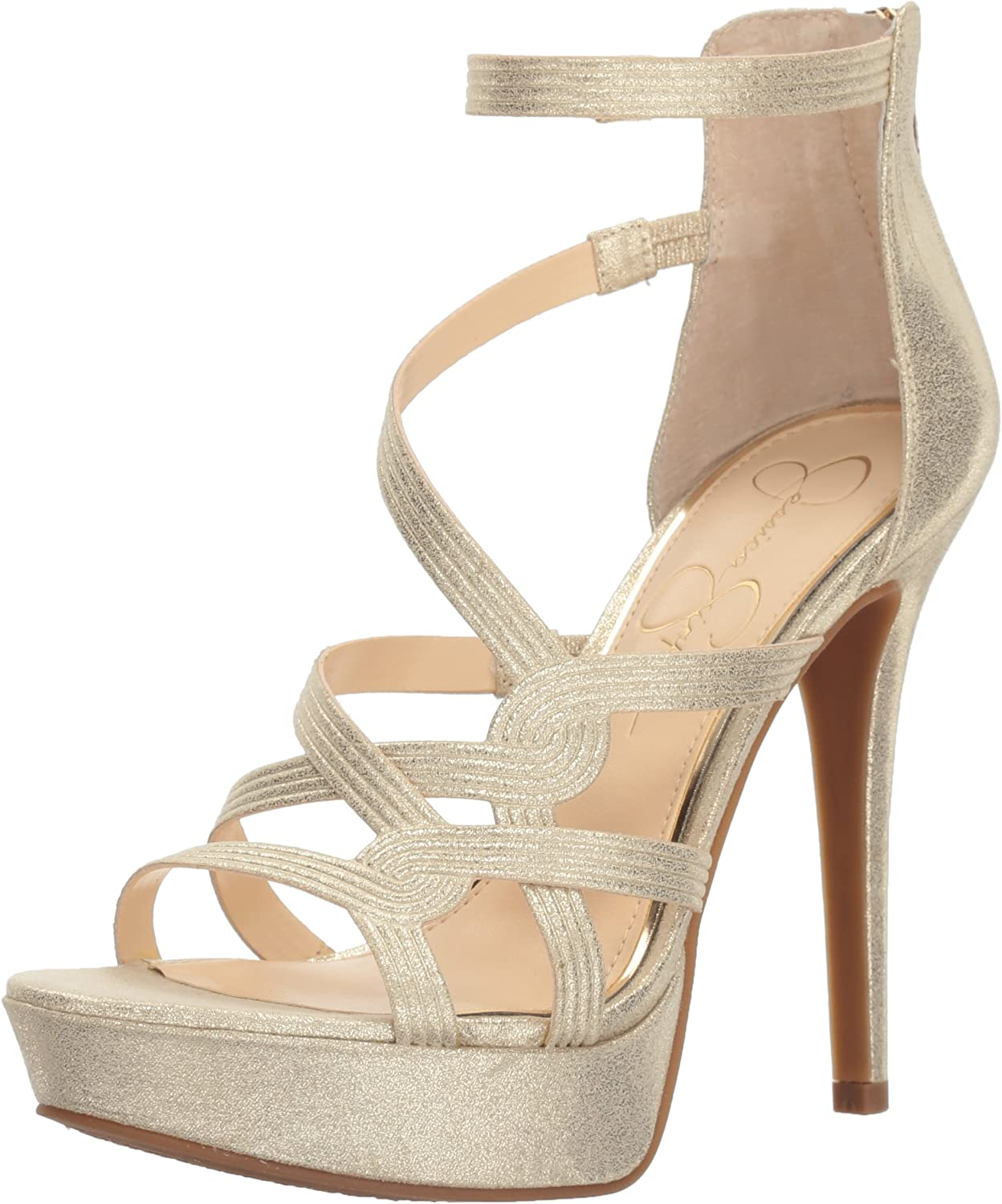 Jessica Simpson Womens Bellanne Heeled Sandal