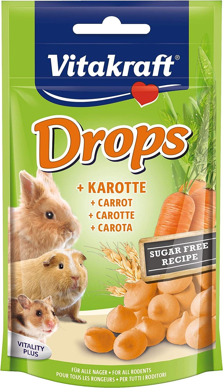 VITAKRAFT Drops snack para roedores con zanahoria bolsa 75 gr