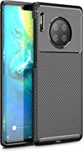 Huawei Mate 30 Pro Case, Silicone Leather[Slim Thin] Flexible TPU Protective Case Shock Absorption Carbon Fiber Cover for ...