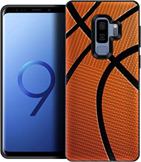 CasesOnDeck Case for [Samsung Galaxy S9] - Drop Protection Hybrid Dual Layer Armor Protective Case Cover (Close Up Basketball)