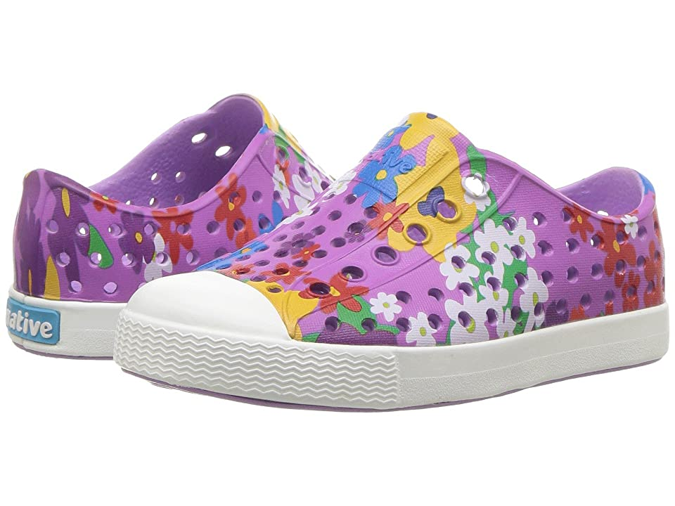 Native Kids Shoes Jefferson Print (Toddler/Little Kid) (Lavendar Purple/Shell White/Daisy Print) Girls Shoes