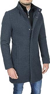 Cappotto Uomo Sartoriale Casual Elegante Slim Fit Giaccone Soprabito Invernale con Gilet Interno (M, Grigio)