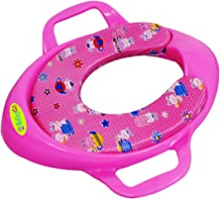 BabyGo Soft Cushion Durable Potty Trainer Comfortable Seat with Support Handles for Kids (Pink)