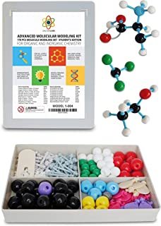 Dalton Labs Molecular Model Kit with Molecule Modeling Software and User Guide - Organic, Inorganic Chemistry Set for Building Molecules 178 Pcs Advanced Chem Biochemistry Student Edition