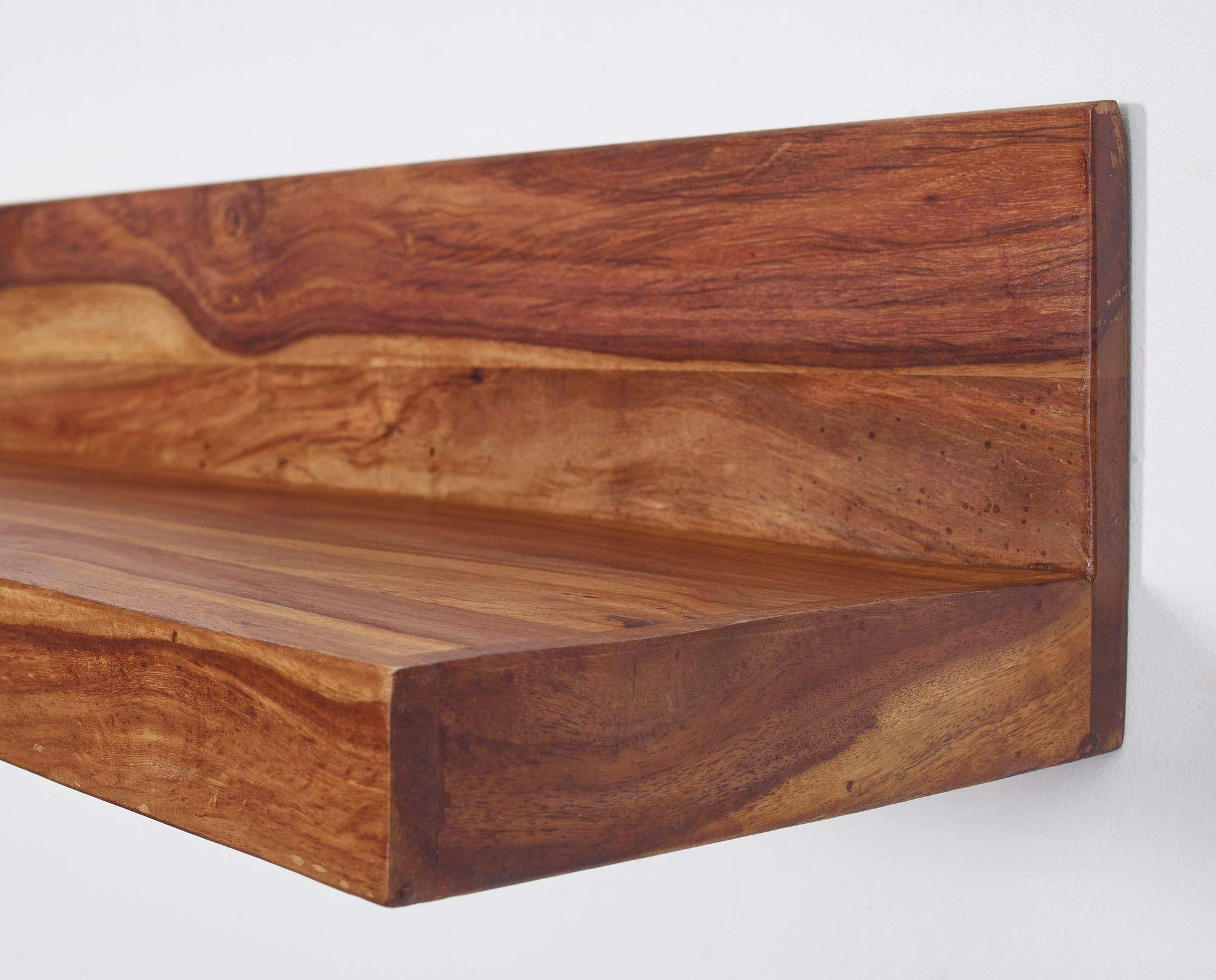 Finebuy Wandregal Massiv Holz Sheesham Holzregal 160 Cm Breit