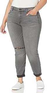 NYDJ Womens WARK2055 Plus Size Girlfriend Jeans in Future Fit Denim Jeans - Blue