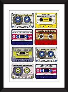 Classic Emo Albums - Unframed Print - Ideal Gift for Music Fan/Sin Marco