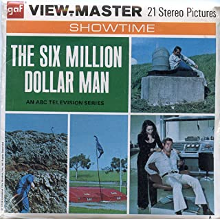 The Six Million Dollar Man - Classic ViewMaster 3 Reel Packet - 21 3D Images - Showtime