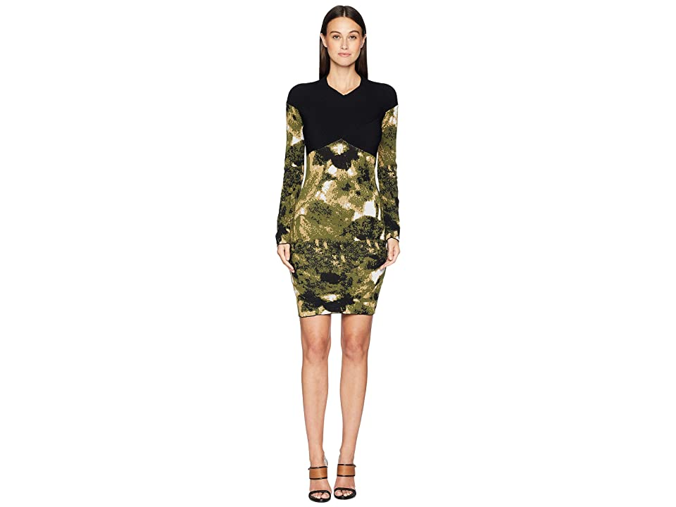 Nicole Miller Double Knit Dress (Camouflage) Women