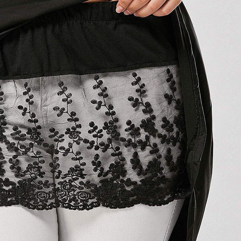 Donasty Damen Spitze Extenders Shirt Extender Mini Skirt Spitze Blumen Verstellbare Layered Extender Rock Minirock Layering Fake Top Lower Sweep Set f/ür Pullover Sweatshirt