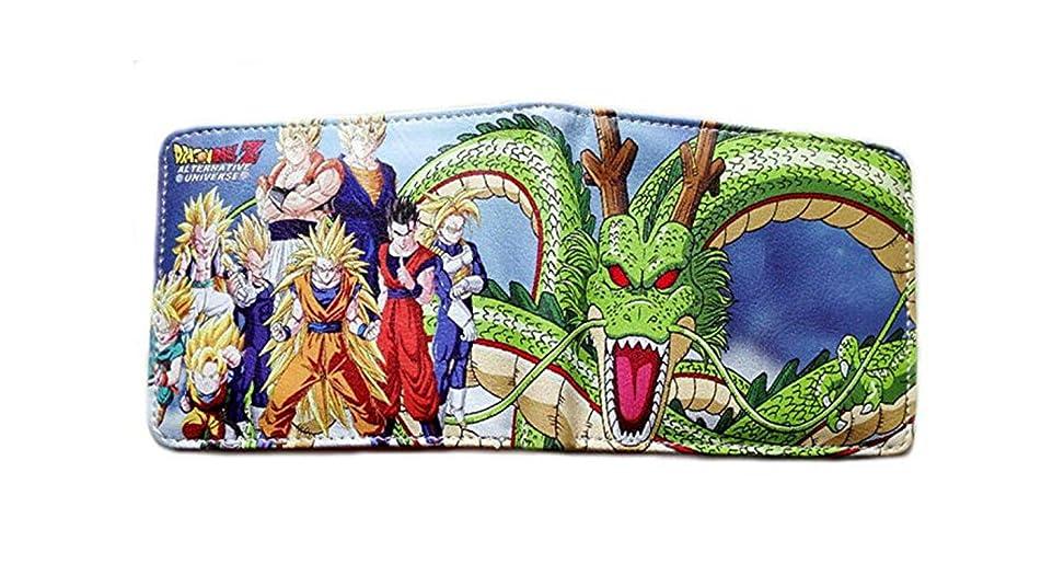 に関してパーセント倍増Dragonball Zロゴ&文字二つ折りメンズBoys Wallet w /ギフトボックスby Athena