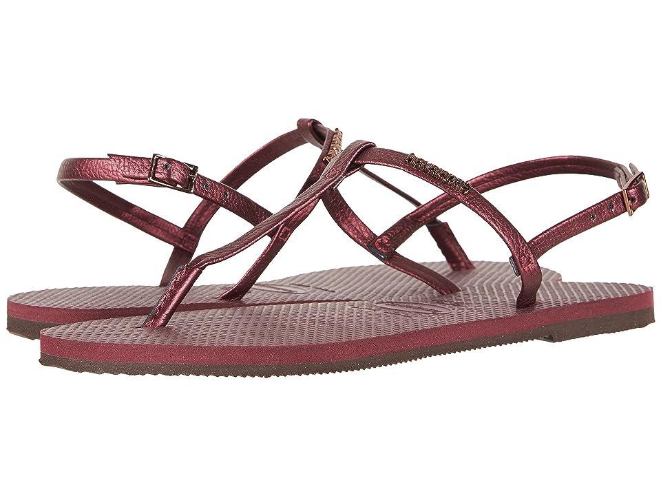Havaianas You Riviera Sandals (Grape Wine) Women