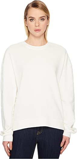 McQ - Lace Trim Slouchy Sweater