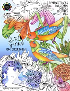 Bird Garden Adult Colouring Book: Themed Gift Packs to Colour and Assemble - Pages, Cards, Envelopes, Bookmarks, Gift Bags & Tags