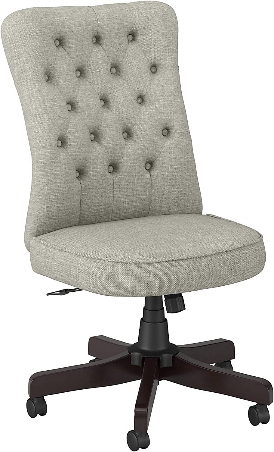Bush Business Furniture Arden Lane High Back Tufted Office Chair, Light Gray Fabric