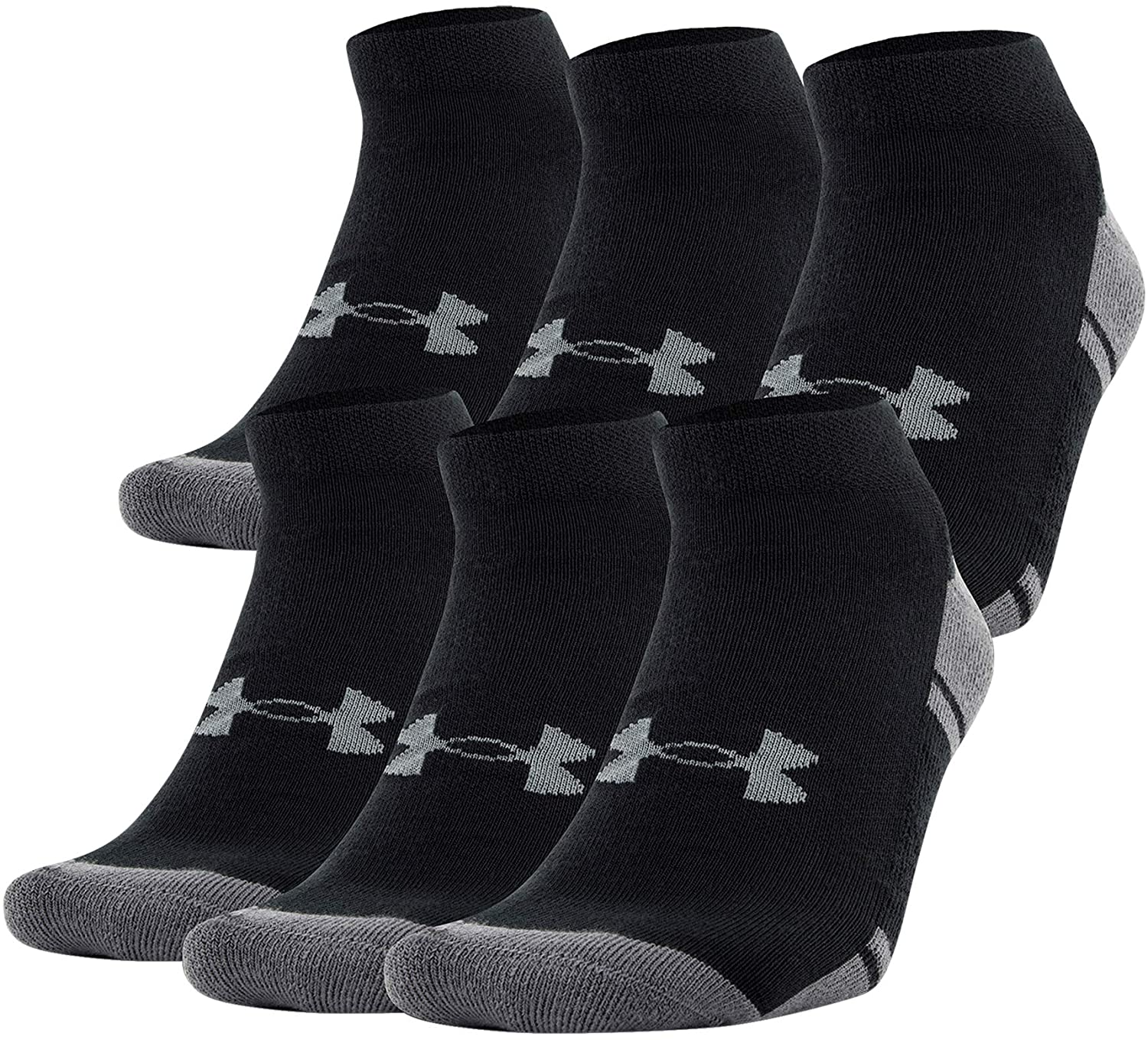 Under Armour Youth Resistor 3.0 Low Cut Socks , Black/Graphite (6-Pairs) , Small