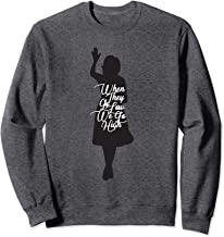 Michelle Obama Quote When They Go Low We Go High Sweatshirt