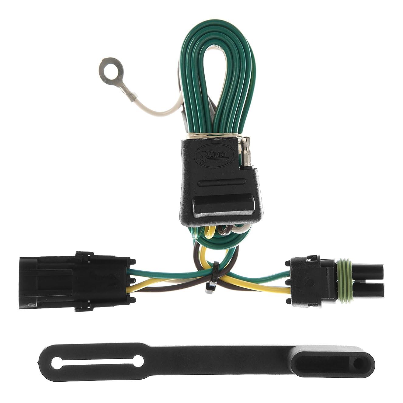 CURT 55312 Vehicle-Side Custom 4-Pin Trailer Wiring Harness for Select Chevrolet, GMC Pickup Trucks, SUVs