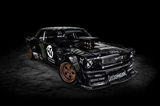 Ford Mustang Hoonigan by ASD & RTR (2014) Car Print on 10 Mil Archival Satin Paper Black Front Side Static View 16