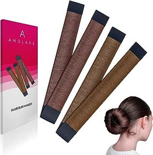 Hair Bun Maker French Twist Hair Fold Wrap Snap by Andlane (1 Brown, 1 Light Brown)