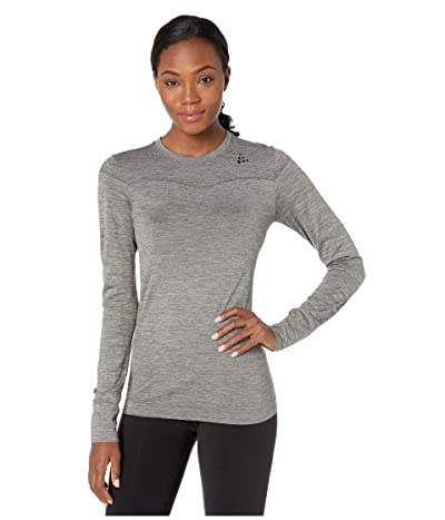 Craft Fuseknit Comfort Round Neck Long Sleeve (Dark Grey Melange) Women