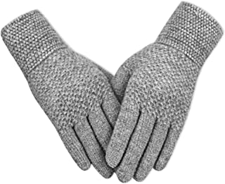 دستکش های زمستانی Evob دستکش گرم و گرمی بافتنی و لمسی پشمی آلپاکا