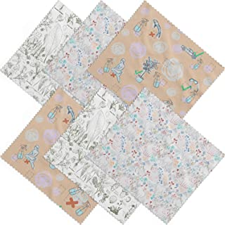 Premium Microfiber Cleaning Cloths (6 Pack) Cute, Unique Patterns - Cleans Eyeglasses, Sunglasses, Lens, Screens, Cameras, Cell Phones, and More