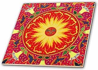 3dRose ct_92755_4 Folk Art, Huichol Art, Santa Fe, New Mexico-US32 JMR1119-Julien McRoberts-Ceramic Tile, 12-Inch
