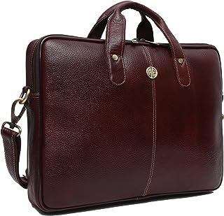 Hammonds Flycatcher Genuine Brown Leather 13 inch Office Messenger Bag with 360 Days Warranty