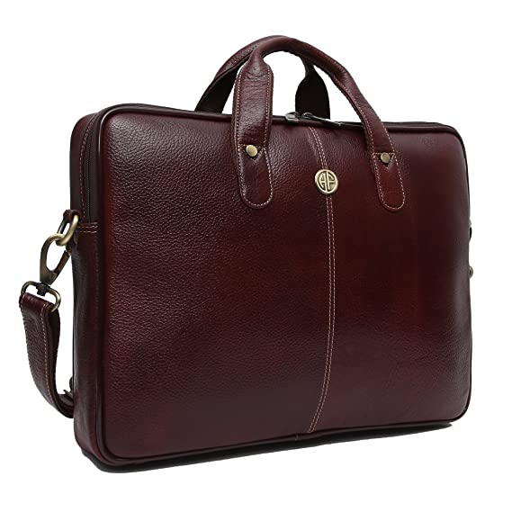 Hammonds Flycatcher Brown Leather Laptop Bag for Men