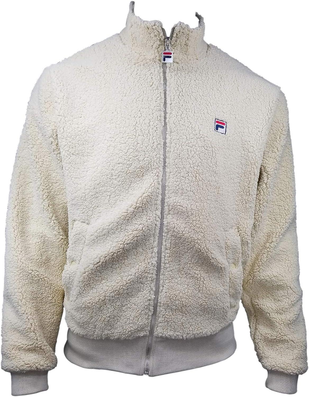 Fila Men's Finch Sherpa Jacket Size XL Beige