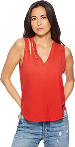 LNA - Double Cut V Tank Top