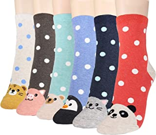 OKIE OKIE Women Christmas Gift Socks - Animal Cat Dog Art Animation Character Cute | Santa Gift | Socks Women