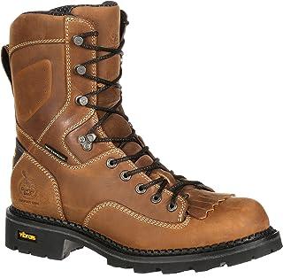 Georgia Boot Mens 8 Steel Toe Insulated Logger Work Boot-GB00065 Brown M9.5